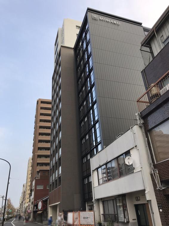 コスモスイニシアのホテル『MIMARU』外観現れる