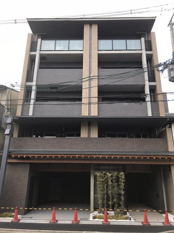 新築分譲マンション『シエリア京都四条烏丸』完成間近