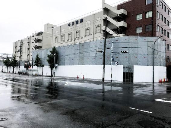 梅小路『新駅』そばの七条通南側も工事が始まる