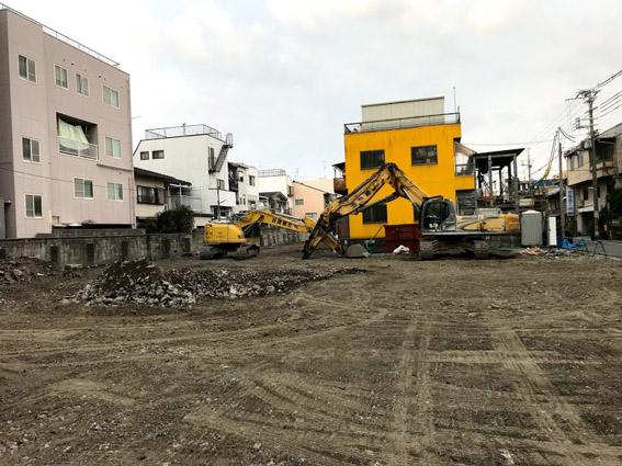 二条駅前の解体現場が更地に!!