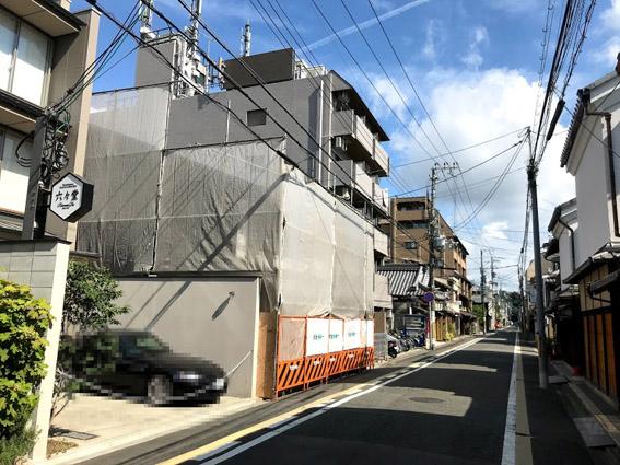 ワコールの宿泊施設『京の温所 麩屋町二条』計画地 発見!!   & 麩屋町通のあれこれ