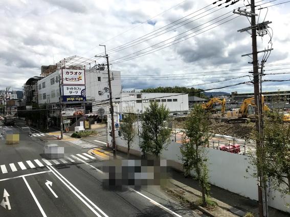 旧イオン大久保店解体撤去工事中!! & プレサンス ロジェ 城陽寺田駅前