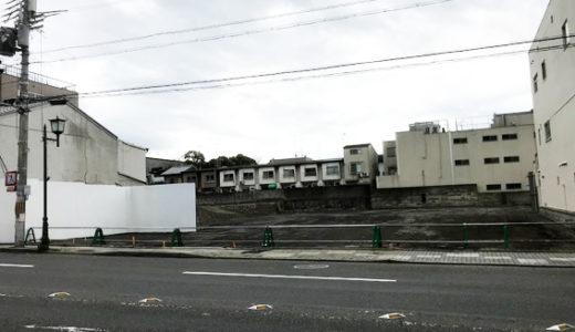三十三間堂前のホテル計画地、バリケードが外される