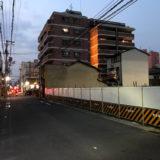 丸太町油小路通の更地にホテルの建築標識が