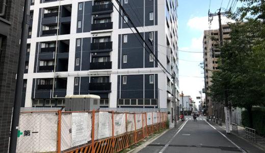 御池中学校の東、ローレルコート御所南の北にある更地に建築標識が設置!!