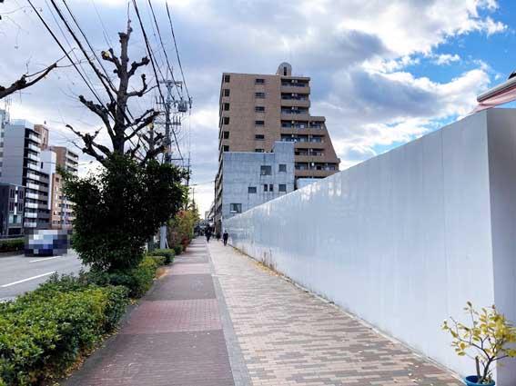 堀川商店街と大垣書店『(仮称)堀川文化ビルヂング』の標識設置