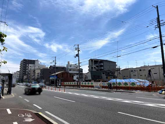 JR「梅小路京都西」駅東、七条通沿いにエスリードの新築分譲マンション計画地